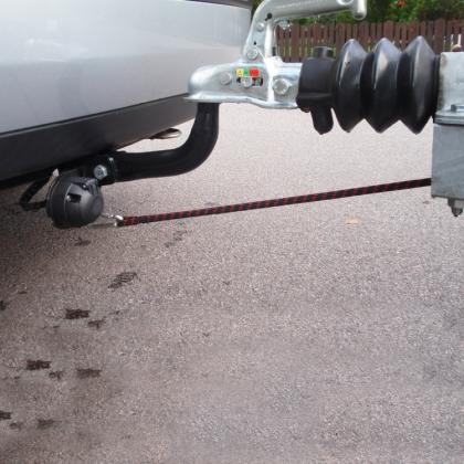 Elastowire, elastisk säkerhetsvajer för släpvagnar