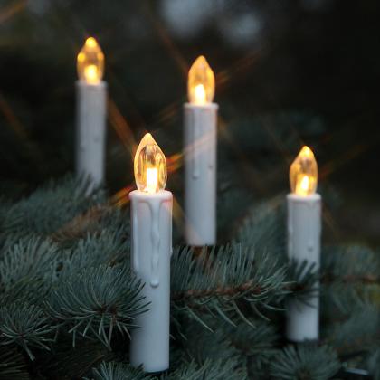 Trådlösa julgransljus ute och inomhus