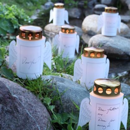 Ljuskort till gravljus, 3-pack