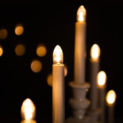 LED-lampor till ljusstakar och julgransljus 7-pack