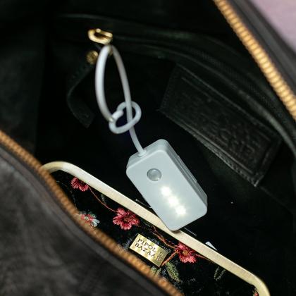 Väsklampa med sensor