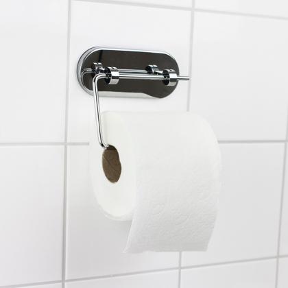 Toalettpappershållare med sugpropp