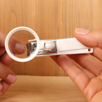 Nagelklippare med förstoringsglas & uppsamlare