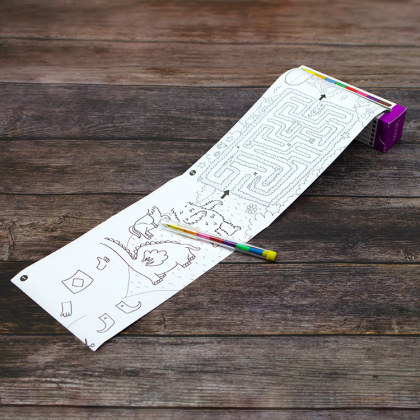 Liten pysselrulle med färgpenna