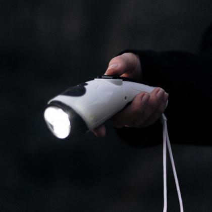 Ficklampa & radio med dynamovev
