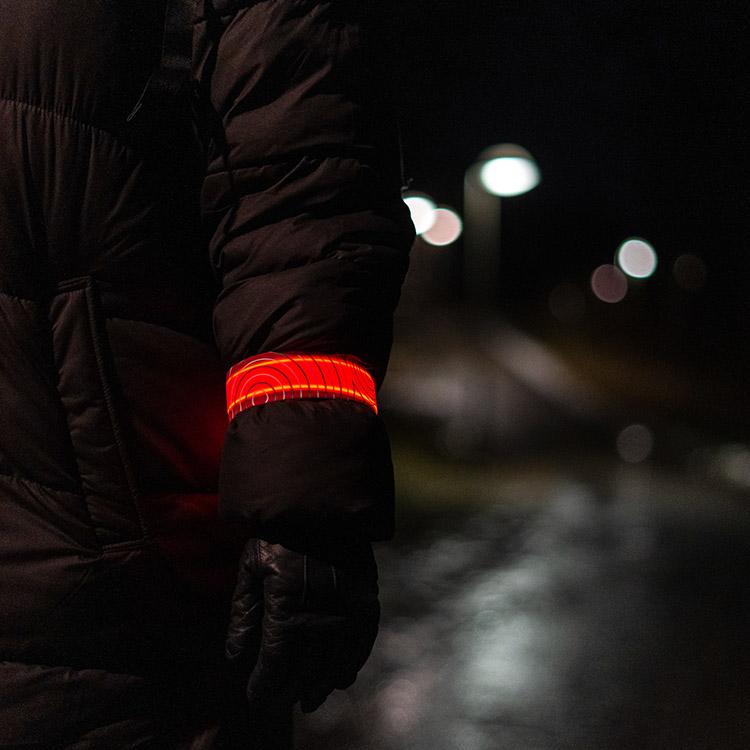 Uppladdningsbart LED-armband slapwrap