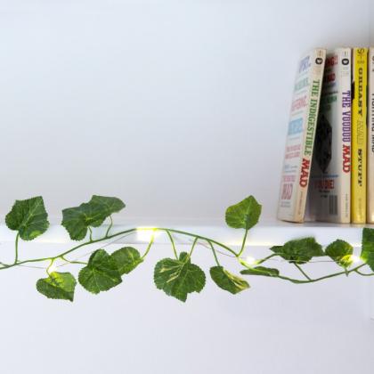 Ljusslinga med gröna blad