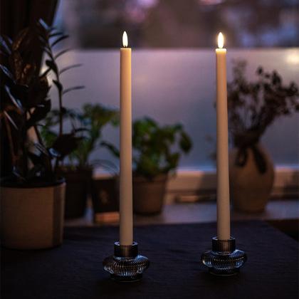 Premium LED långa antikljus 2-pack