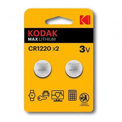 Batteri CR1220, 2-pack