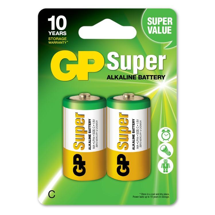 Batteri C eller LR14 2-pack