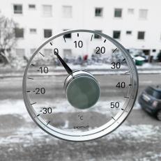Fönstertermometer Stor och tydlig utomhustermometer