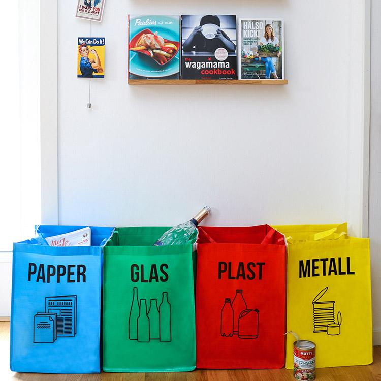 Toppen Källsortering glas, papper, metall & plast | SmartaSaker XI-43