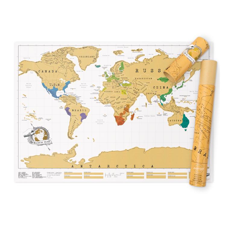 karta skrapa Världskartan Scratch Map karta skrapa