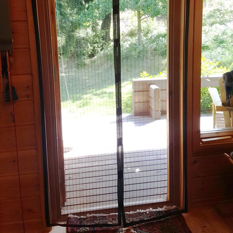 myggnät till dörr med magnet
