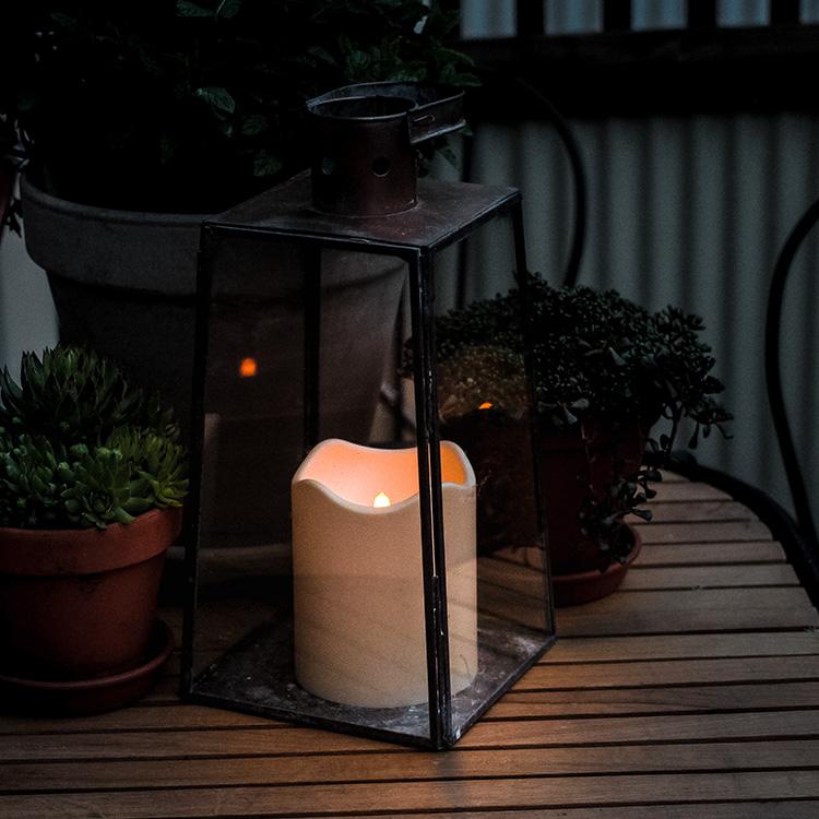 Strålande Blockljus med skymningssensor för utomhusbruk - LED | SmartaSaker YS-46