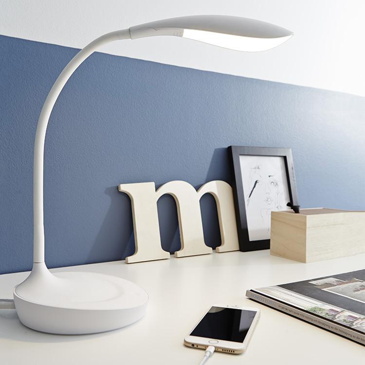 Bordslampa med USB uttag