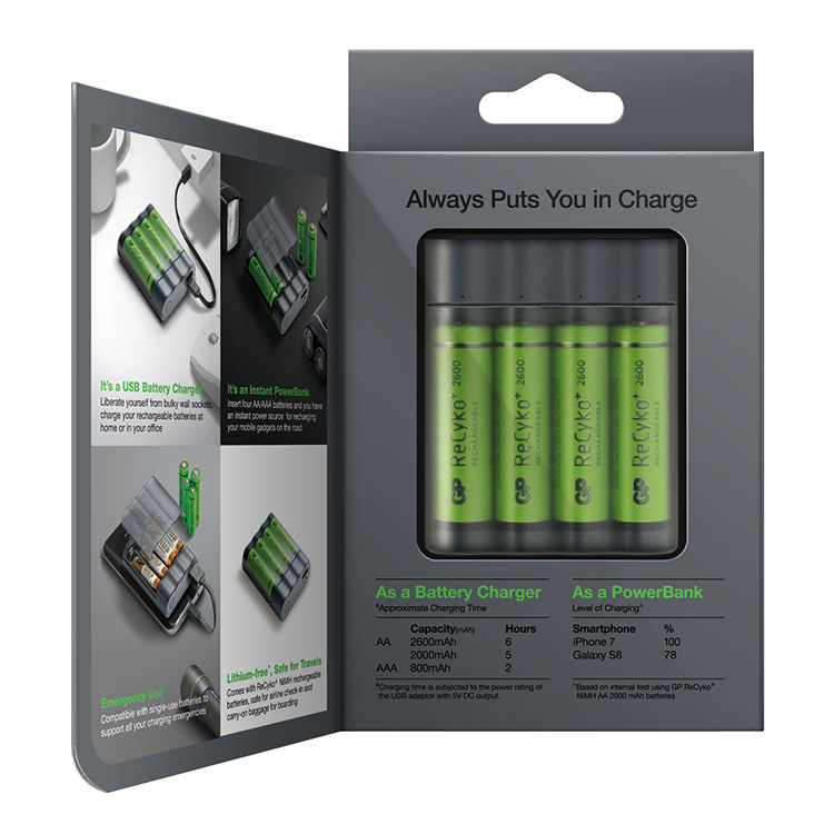 Batteriladdare med powerbank