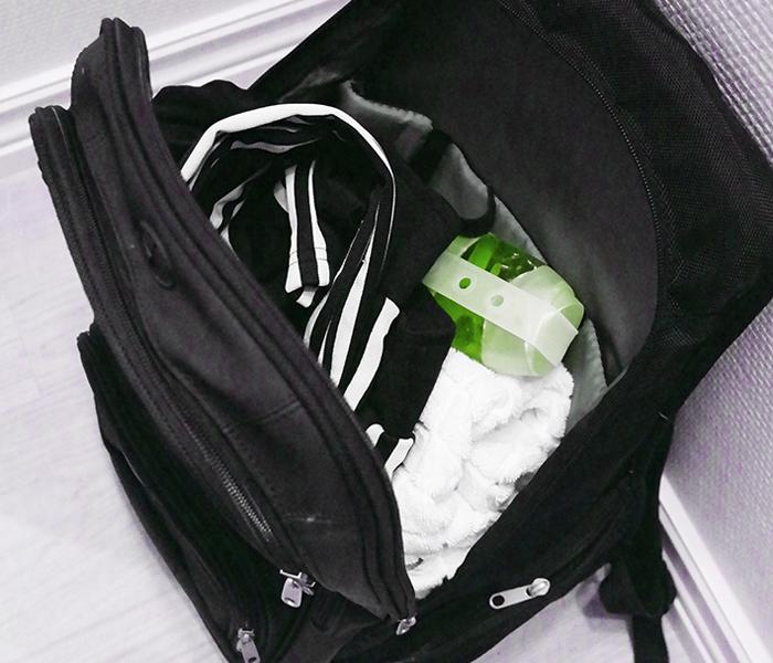 Bathbuddy i träningsbag