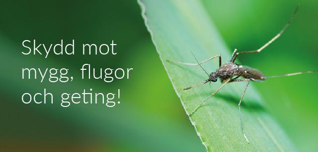 Skydd mot mygg och geting