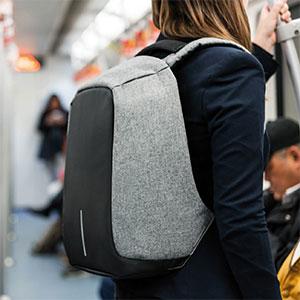 Stöldskyddad ryggsäck