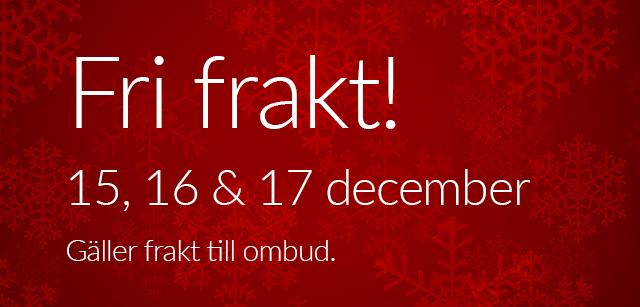 Fri frakt 15, 16, 17 december!