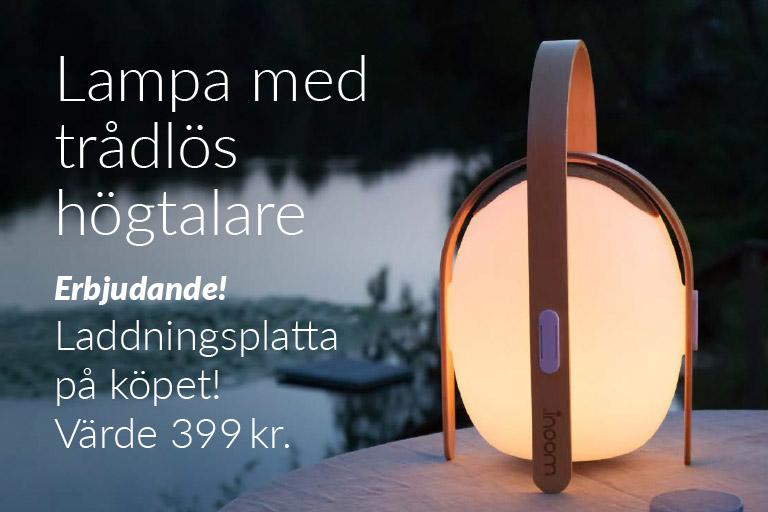 Lampa med trådlös högtalare