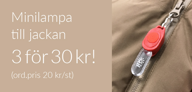 Minilampa till jackan - 3 för 30 kr